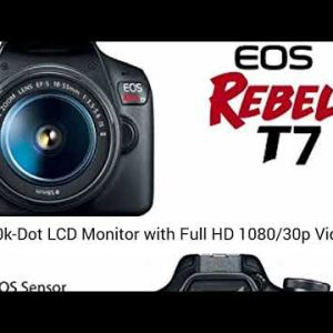 Canon EOS Rebel T7 DSLR Camera Bundle with Canon EF-S 18-55mm f/3.5-5.6 is II Lens + Memory Cards