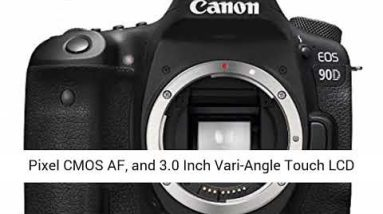Canon DSLR Camera [EOS 90D] with Built-in Wi-Fi, Bluetooth, DIGIC 8 Image Processor, [Body Only]